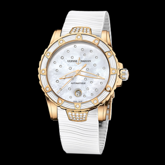 Ulysse Nardin Lady Diver Rose Gold White Ref. 8156-180E-3C_20
