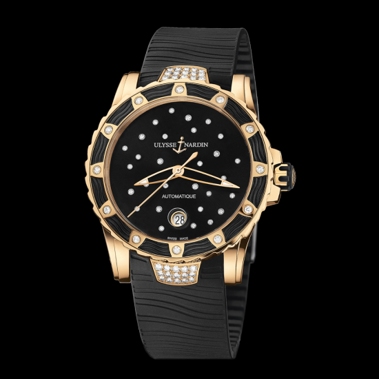 Ulysse Nardin Lady Diver Rose Gold Black Dial ref. 8156-180E-3C_22