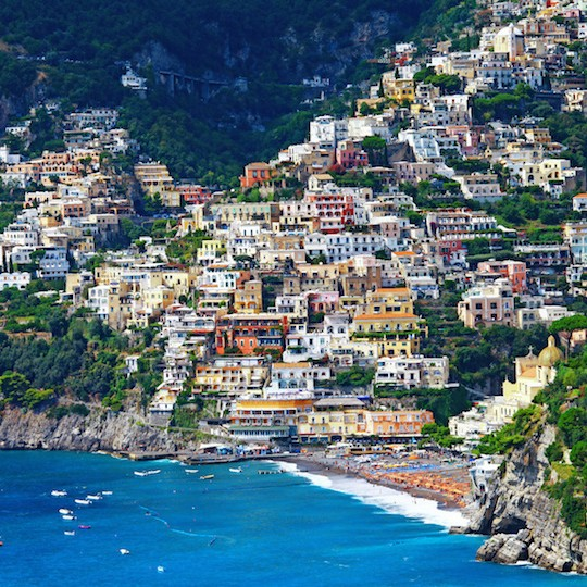 picturesque Amalfi coast of Italy - Positano